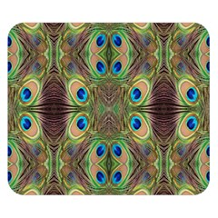 Beautiful Peacock Feathers Seamless Abstract Wallpaper Background Double Sided Flano Blanket (Small)