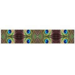 Beautiful Peacock Feathers Seamless Abstract Wallpaper Background Flano Scarf (Large)