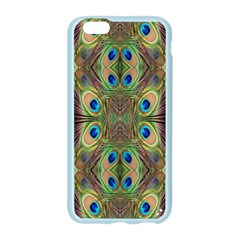 Beautiful Peacock Feathers Seamless Abstract Wallpaper Background Apple Seamless iPhone 6/6S Case (Color)