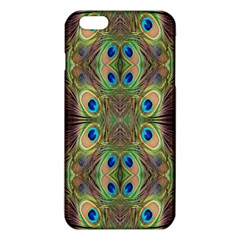 Beautiful Peacock Feathers Seamless Abstract Wallpaper Background iPhone 6 Plus/6S Plus TPU Case