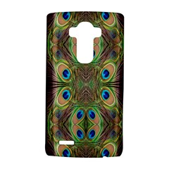 Beautiful Peacock Feathers Seamless Abstract Wallpaper Background Lg G4 Hardshell Case