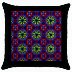 Abstract Pattern Wallpaper Throw Pillow Case (black)