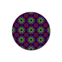 Abstract Pattern Wallpaper Rubber Coaster (round)