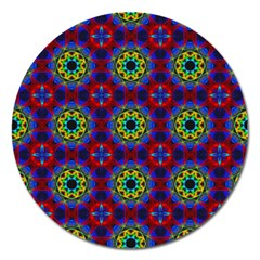 Abstract Pattern Wallpaper Magnet 5  (round)