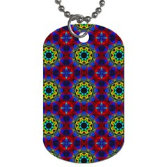 Abstract Pattern Wallpaper Dog Tag (One Side)