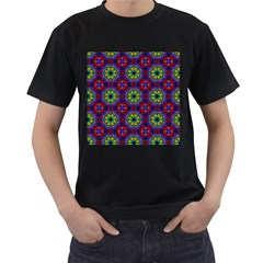 Abstract Pattern Wallpaper Men s T-Shirt (Black) (Two Sided)