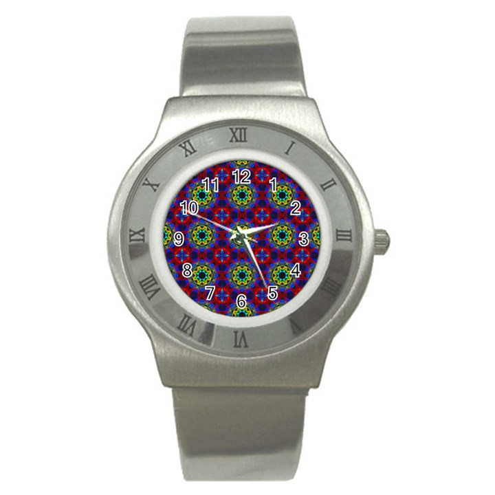 Abstract Pattern Wallpaper Stainless Steel Watch