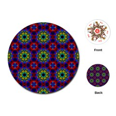 Abstract Pattern Wallpaper Playing Cards (round)
