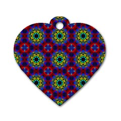 Abstract Pattern Wallpaper Dog Tag Heart (one Side)