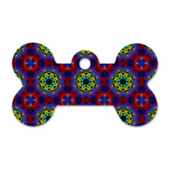 Abstract Pattern Wallpaper Dog Tag Bone (two Sides)
