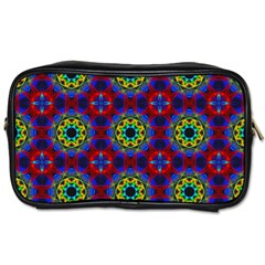 Abstract Pattern Wallpaper Toiletries Bags