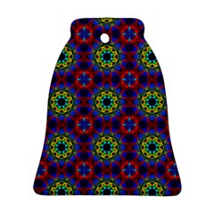 Abstract Pattern Wallpaper Bell Ornament (Two Sides)