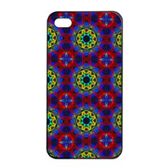 Abstract Pattern Wallpaper Apple iPhone 4/4s Seamless Case (Black)