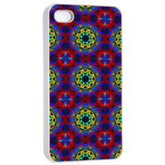 Abstract Pattern Wallpaper Apple iPhone 4/4s Seamless Case (White)