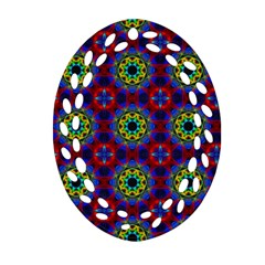 Abstract Pattern Wallpaper Oval Filigree Ornament (Two Sides)