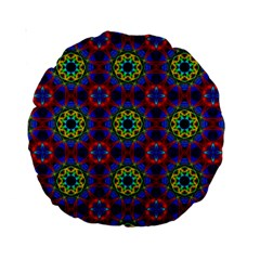 Abstract Pattern Wallpaper Standard 15  Premium Round Cushions