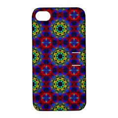 Abstract Pattern Wallpaper Apple iPhone 4/4S Hardshell Case with Stand