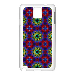 Abstract Pattern Wallpaper Samsung Galaxy Note 3 N9005 Case (White)