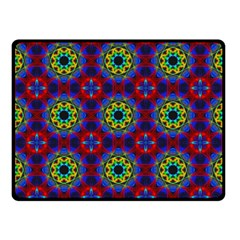 Abstract Pattern Wallpaper Double Sided Fleece Blanket (Small)