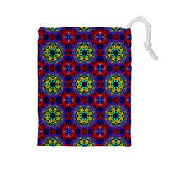 Abstract Pattern Wallpaper Drawstring Pouches (Large)