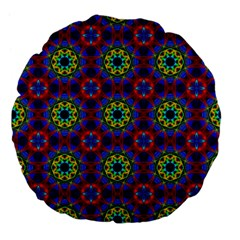 Abstract Pattern Wallpaper Large 18  Premium Flano Round Cushions