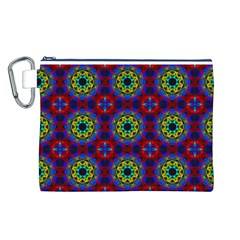 Abstract Pattern Wallpaper Canvas Cosmetic Bag (L)