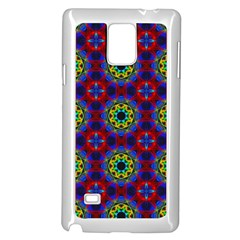 Abstract Pattern Wallpaper Samsung Galaxy Note 4 Case (White)