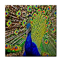 Graphic Painting Of A Peacock Tile Coasters
