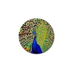 Graphic Painting Of A Peacock Golf Ball Marker