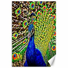 Graphic Painting Of A Peacock Canvas 24  X 36