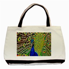 Graphic Painting Of A Peacock Basic Tote Bag (two Sides)