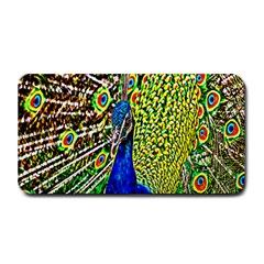 Graphic Painting Of A Peacock Medium Bar Mats