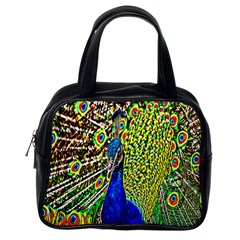 Graphic Painting Of A Peacock Classic Handbags (one Side)