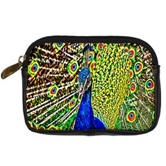 Graphic Painting Of A Peacock Digital Camera Cases