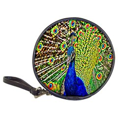 Graphic Painting Of A Peacock Classic 20 Cd Wallets