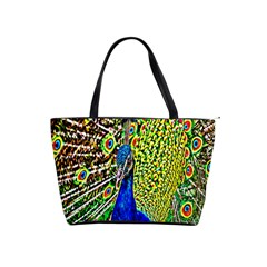 Graphic Painting Of A Peacock Shoulder Handbags