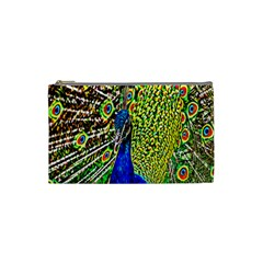 Graphic Painting Of A Peacock Cosmetic Bag (small)