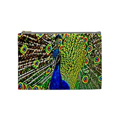 Graphic Painting Of A Peacock Cosmetic Bag (medium)
