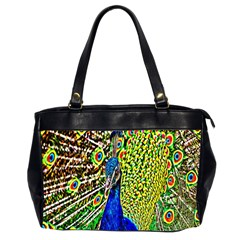 Graphic Painting Of A Peacock Office Handbags (2 Sides)