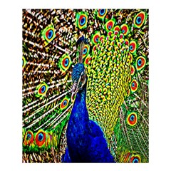 Graphic Painting Of A Peacock Shower Curtain 60  X 72  (medium)