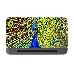 Graphic Painting Of A Peacock Memory Card Reader with CF