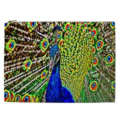 Graphic Painting Of A Peacock Cosmetic Bag (xxl)