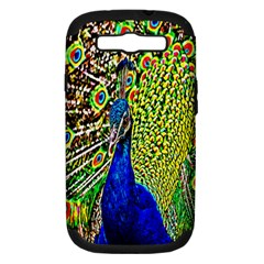 Graphic Painting Of A Peacock Samsung Galaxy S III Hardshell Case (PC+Silicone)