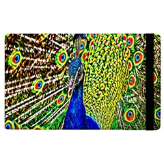 Graphic Painting Of A Peacock Apple iPad 2 Flip Case