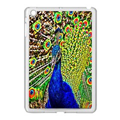 Graphic Painting Of A Peacock Apple iPad Mini Case (White)