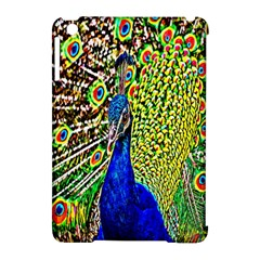 Graphic Painting Of A Peacock Apple iPad Mini Hardshell Case (Compatible with Smart Cover)