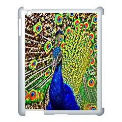 Graphic Painting Of A Peacock Apple iPad 3/4 Case (White)