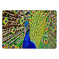 Graphic Painting Of A Peacock Samsung Galaxy Tab 10.1  P7500 Flip Case