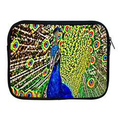 Graphic Painting Of A Peacock Apple iPad 2/3/4 Zipper Cases