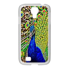 Graphic Painting Of A Peacock Samsung GALAXY S4 I9500/ I9505 Case (White)